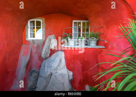 Corner in the yard of the National palace of Sintra, Portugal - Stock Image