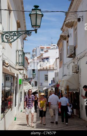 Portugal, Algarve, Albufeira, Street Scene - Stock Image