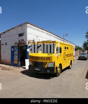 Prosegur security truck Chile 2019 - Stock Image
