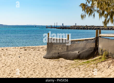 Beach remediation at Mooloolaba, Sunshine Coast, Queensland, Australia - Stock Image