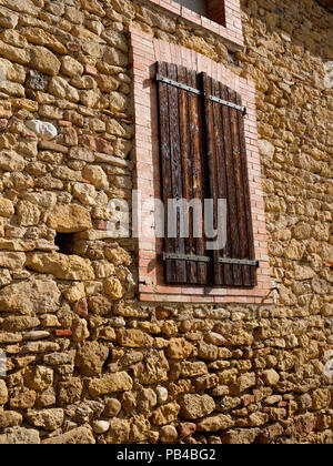 Inside the ancient walled city of Carcassonne, France - Stock Image