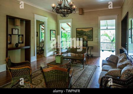Living room, Parador Hacienda Gripiñas, Jayuya, Puerto Rico - Stock Image