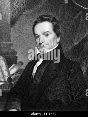 Edward Livingston (1764-1836) on engraving from 1834.  American jurist and statesman. - Stock Image