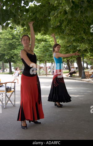 Greek dancers, Spianada, Kerkyra, Corfu, Greece, Europe, - Stock Image