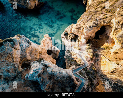 Ponta da Piedade from above, Algarve, Portugal - Stock Image