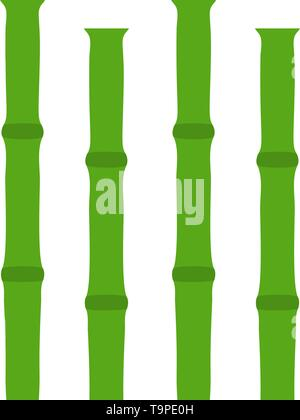 Bamboo Branches Icon. Flat Color Design. Vector Illustration. - Stock Image