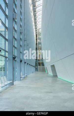 LONDON, UK - APRIL 28 2013: A view of the hallway in the Charles Darwin Centre at the Natural History Museum. - Stock Image