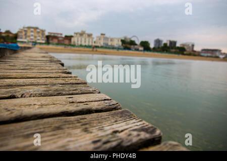 Pier on the beach in Lido di Jesolo - Stock Image