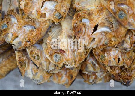 Tuyo, or dried fish, for sale at a market in Roxas, Oriental Mindoro, Philippines. - Stock Image
