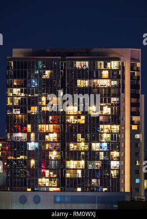 Sydney architecture at night. - Stock Image
