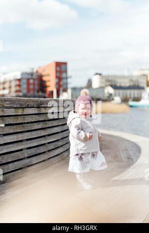 Smiling girl - Stock Image
