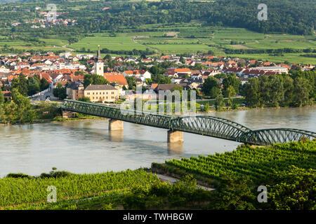 Mautern an der Donau. Wachau valley. Austria. - Stock Image