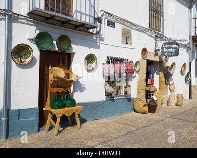 Craft Shop. Úbeda, Jaén, Andalusia, Spain. - Stock Image