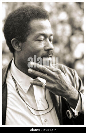 Leroy Eldridge Cleaver (1935-1998) 1968 photograph whilst campaigning as a presidential candidate for the Peace and Freedom Party. See more information below. - Stock Image