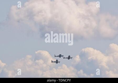 Bader Bus Company - Disabled plots aerobatic team - Stock Image