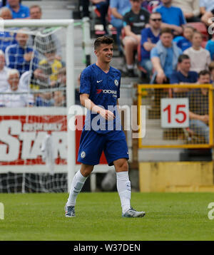 Richmond Park, Dublin, Ireland. 13th July, 2019. Pre season football friendly, St Patricks versus Chelsea; Mason Mount of Chelsea celebrates scoring his side opening goal 0-1 Credit: Action Plus Sports/Alamy Live News - Stock Image