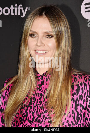 HEIDI KLUM German-American singer, film actress, model at Spotify's Best New Artist Party at the Hammer Museum on February 07, 2019 in Los Angeles, California. - Stock Image
