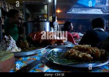 Restaurant at Ubud Markets, Bali Indonesia - Stock Image