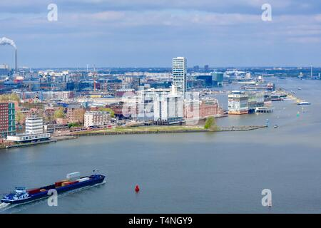 Amsterdam, Netherlands - April 2019; View from the Adam lookout on a bright spring day. - Stock Image