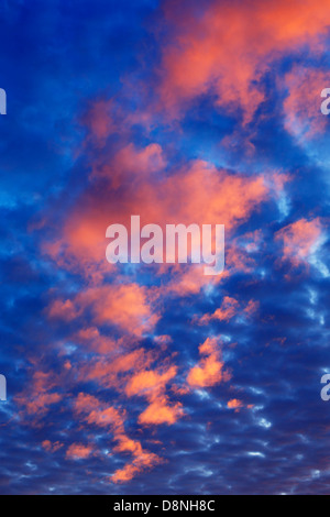 Sunset clouds - Northern Minnesota, USA. - Stock Image
