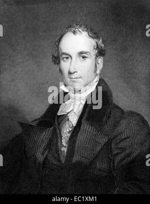 Louis McLane (1786-1857) on engraving from 1834. American lawyer and politician. - Stock Image