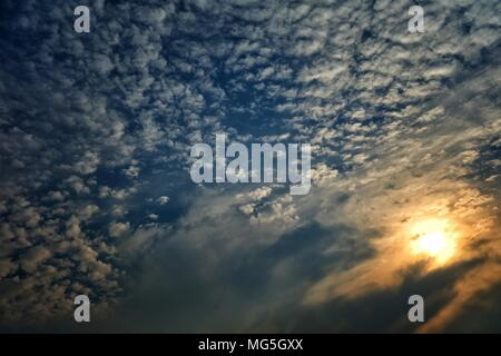 Sunset with Cloud Background. - Stock Image