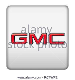GMC General Motors Car Company logo - Stock Image