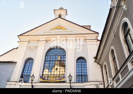 Chapel of the Gates of Dawn (Aušros vartai) in Vilnius, Lithuania - Stock Image