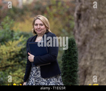 London, UK. 26th March 2019, Karen Bradley MP PC Northern Ireland Secretary, arrives at a Cabinet meeting at 10 Downing Street, London, UK. Credit: Ian Davidson/Alamy Live News - Stock Image
