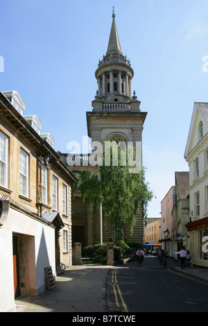 All Saints Church from Turl Street, Oxford, Oxfordshire, UK - Stock Image
