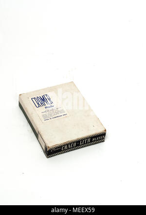 An antique, new old stock pack 4x5 inch Cramer Craco-Lith photographic dry plates. - Stock Image