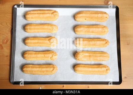 Freshly baked choux - Stock Image