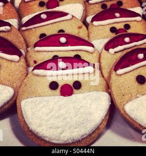 Father Christmas cookies - Stock Image
