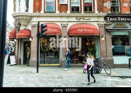 Cafe Concerto London, Caffe Concerto London West End, Brasserie, Prosecco bar London UK, CAFFÉ CONCERTO restaurant - Stock Image