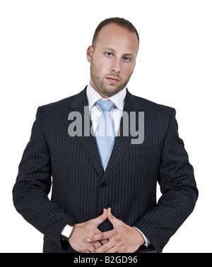 businessman on isolated background - Stock Image