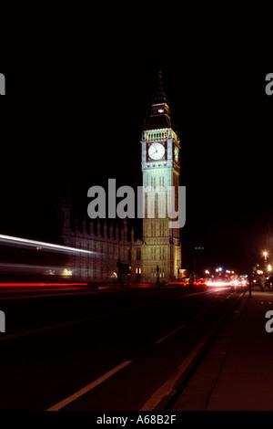 Big Ben London UK at night - Stock Image