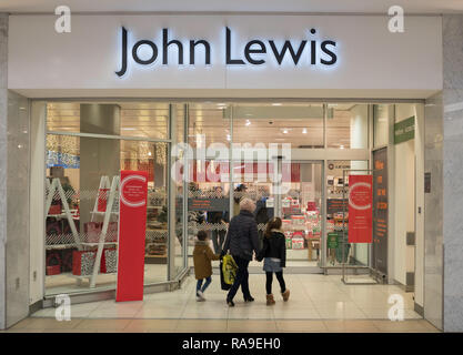 John Lewis store front, Newcastle, north east England, UK - Stock Image