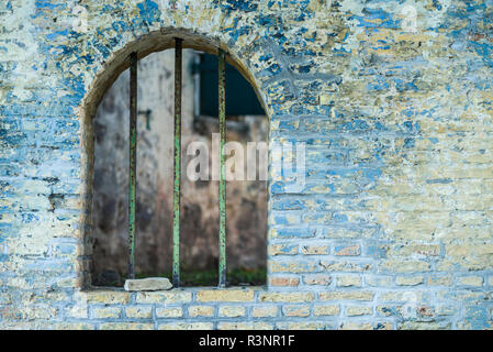 Sint Eustatius. Oranjestad, ruins of the Honen Dalim Synagogue, built in 1739 - Stock Image
