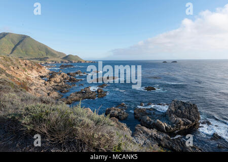 Views from 17-Mile Drive, a scenic road through Pacific Grove and Pebble Beach on the Monterey Peninsula in California - Stock Image