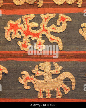 Detail of Tapis skirt from the Lampung region of Sumatra, Indonesia. Paminggir or Abung people. Southeast Asia - Stock Image