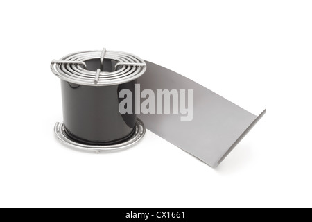 120 roll film in developing reel - Stock Image