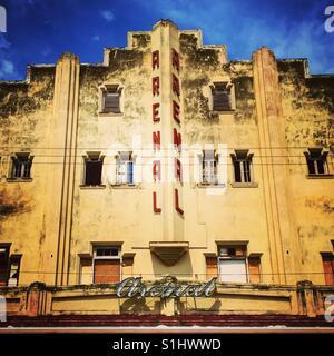 Old Theatre in Havana Cuba - Stock Image