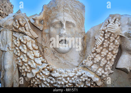 Sarcophagus Figure, Side Museum, Side, Turkey - Stock Image