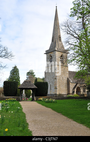 St Mary's Church, Lower Slaughter, Gloucestershire - Stock Image