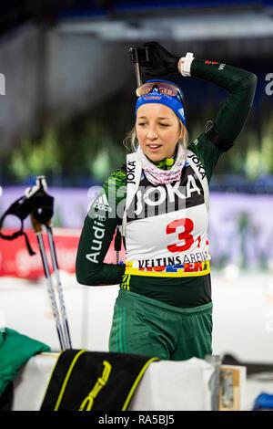 Franziska Preuß (GER). JOKA Biathlon World Team Challenge 2018 auf Schalke. - Stock Image