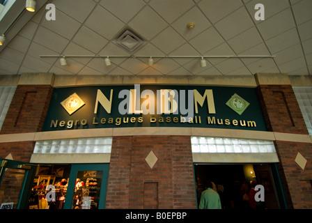 entrance Negro Leagues Baseball Museum NLBM Kansas City Missouri MO - Stock Image