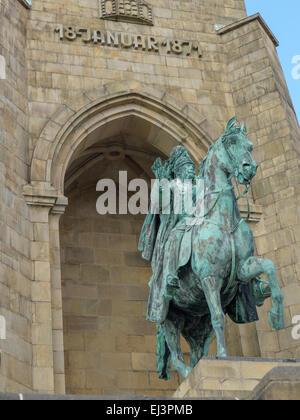 Monument for emperor Wilhelm I. in Hohensyburg by Dortmund/Germany. - Stock Image