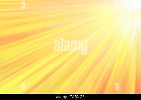 Glowing yellow sun beams. Abstract bright texture and background - Stock Image