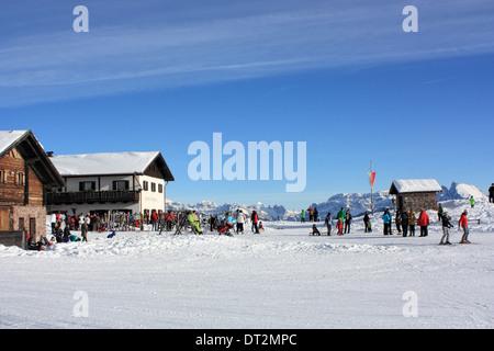 Restaurant Unterhornhaus, Rittner Horn / Corno del Renon, Dolomite Alps - Stock Image