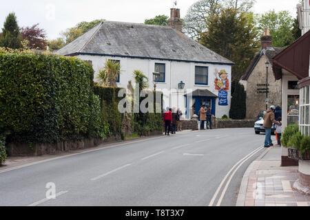 The main street looking towards the Model Village, godshill, Isle of Wight - Stock Image
